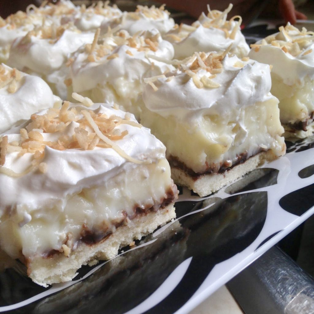 Coconut Cream Pie Bars with Chocolate
