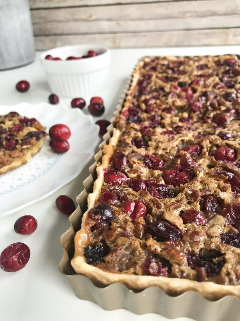 White Chocolate Cranberry Pecan Pie
