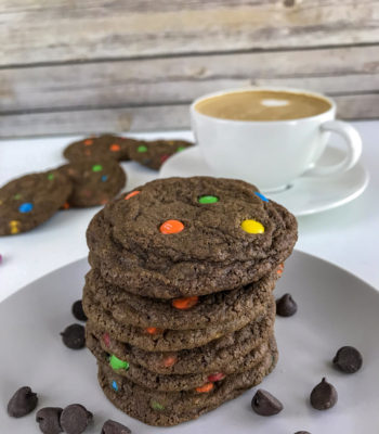 Double Chocolate Mini M&M Cookies
