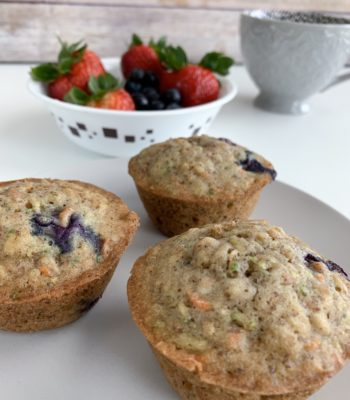 Blueberry Oat – Zucchini & Carrot Muffins!