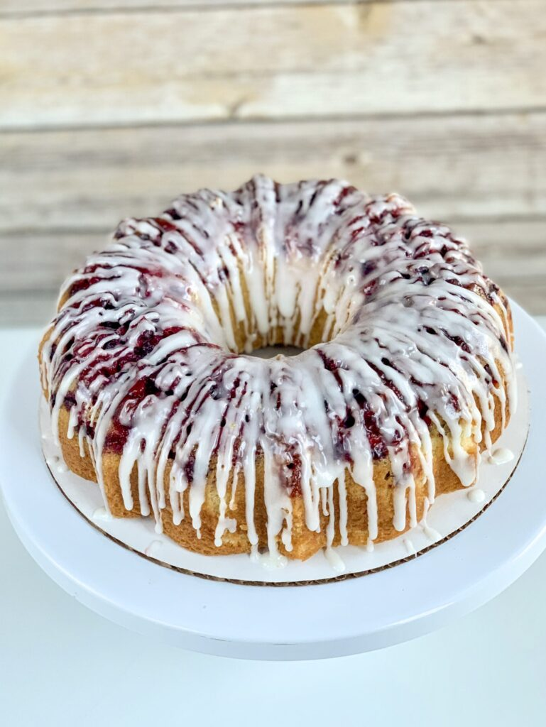 Cranberry Lime Bundt Cake