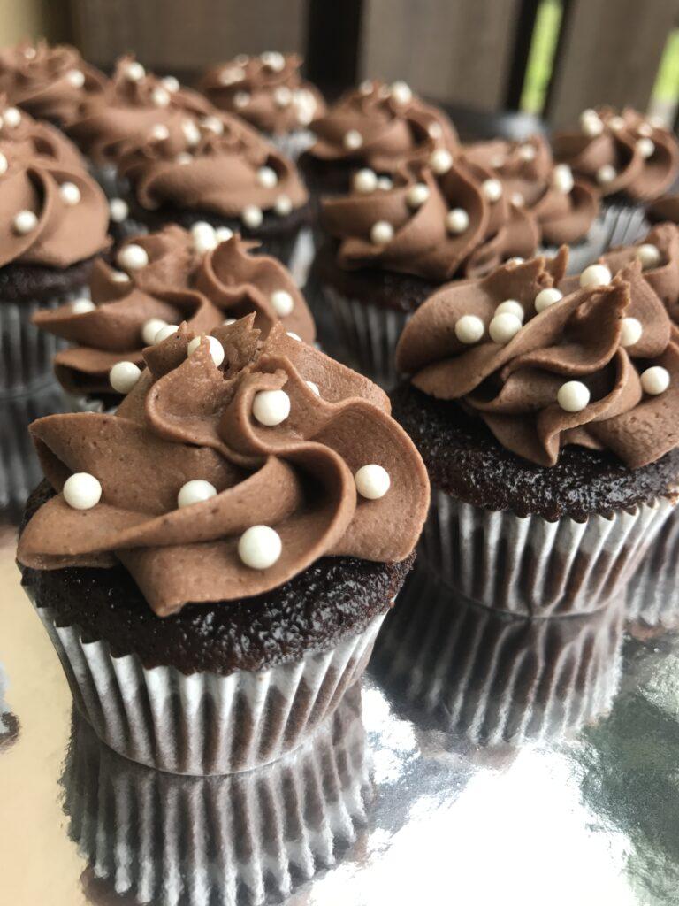 Elegant Chocolate Mini Cupcakes