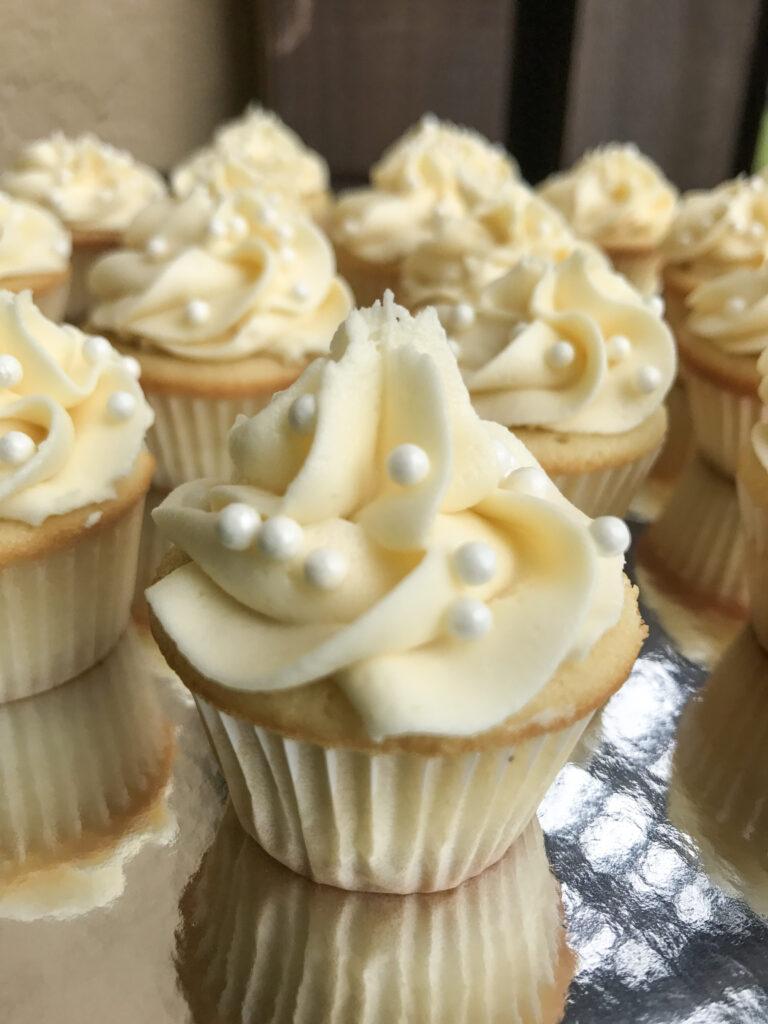 Elegant Vanilla Mini Cupcakes